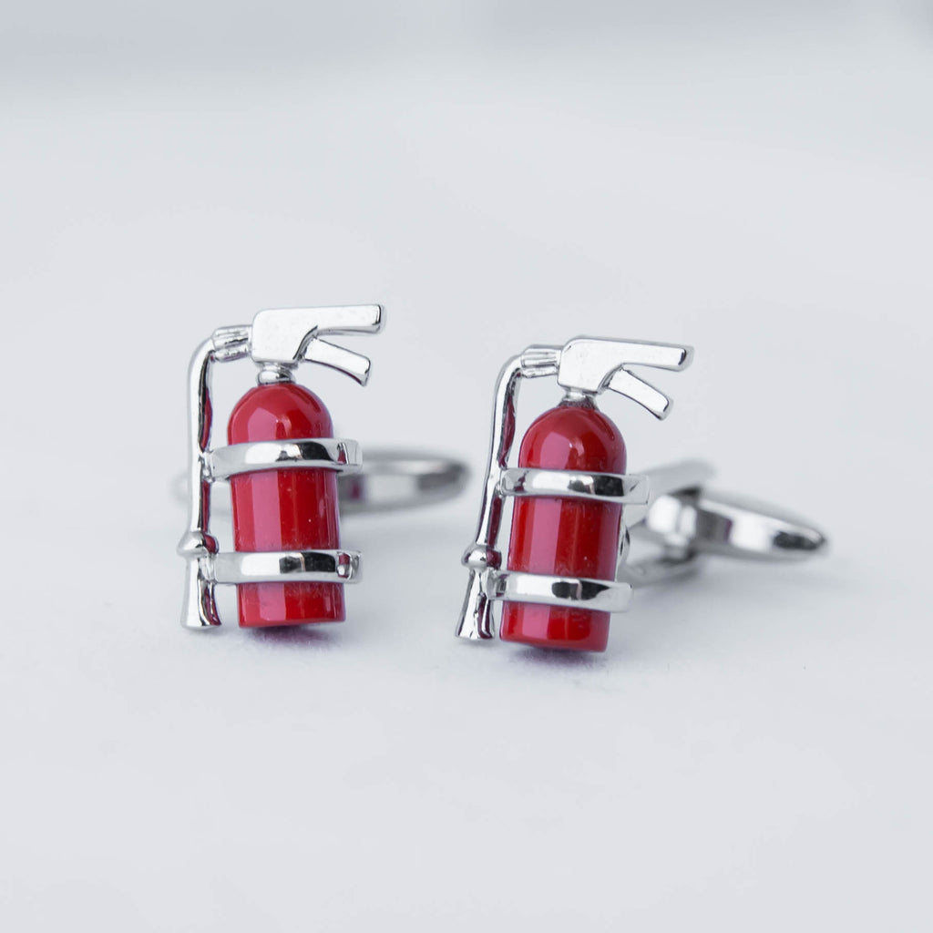 Fire Extinguisher Cufflink