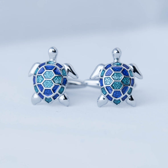 Designer cufflinks - Sea turtles cufflinks