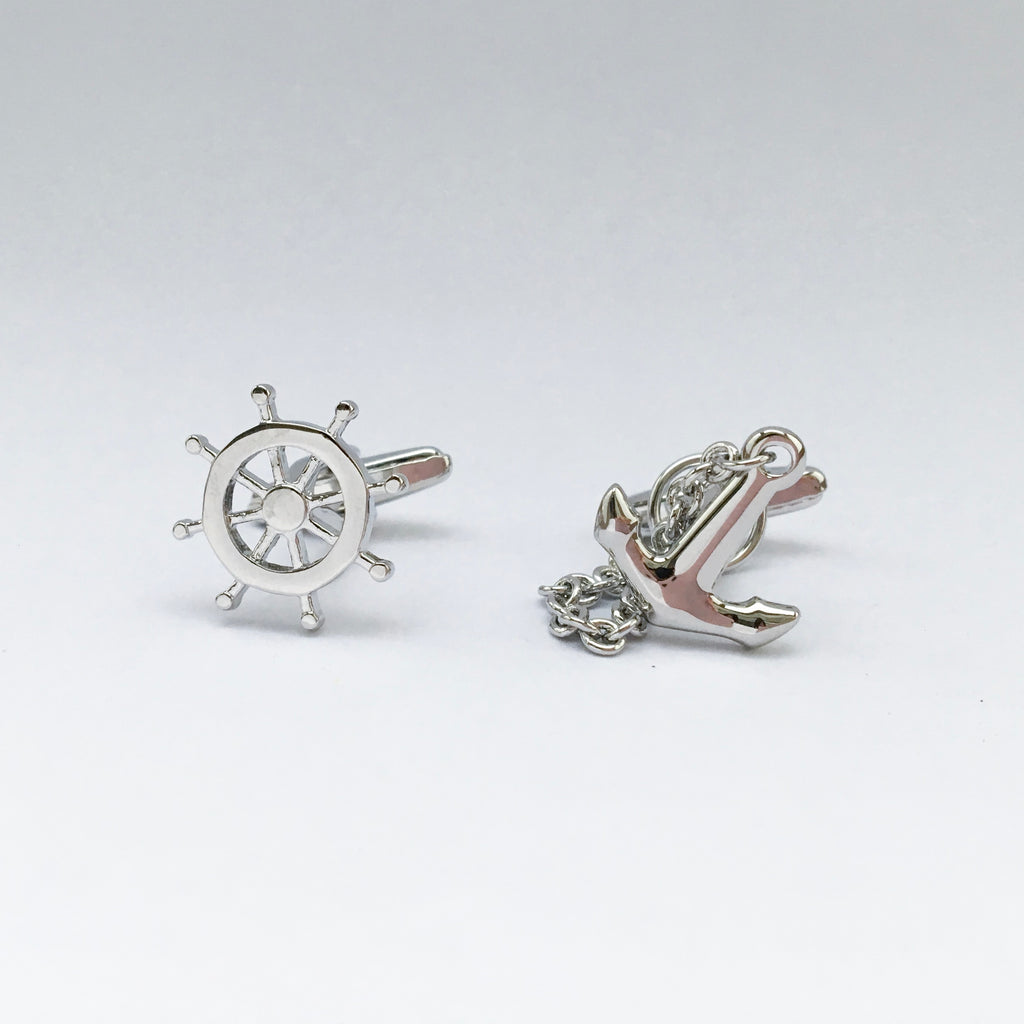 Helm and Anchor Cufflink