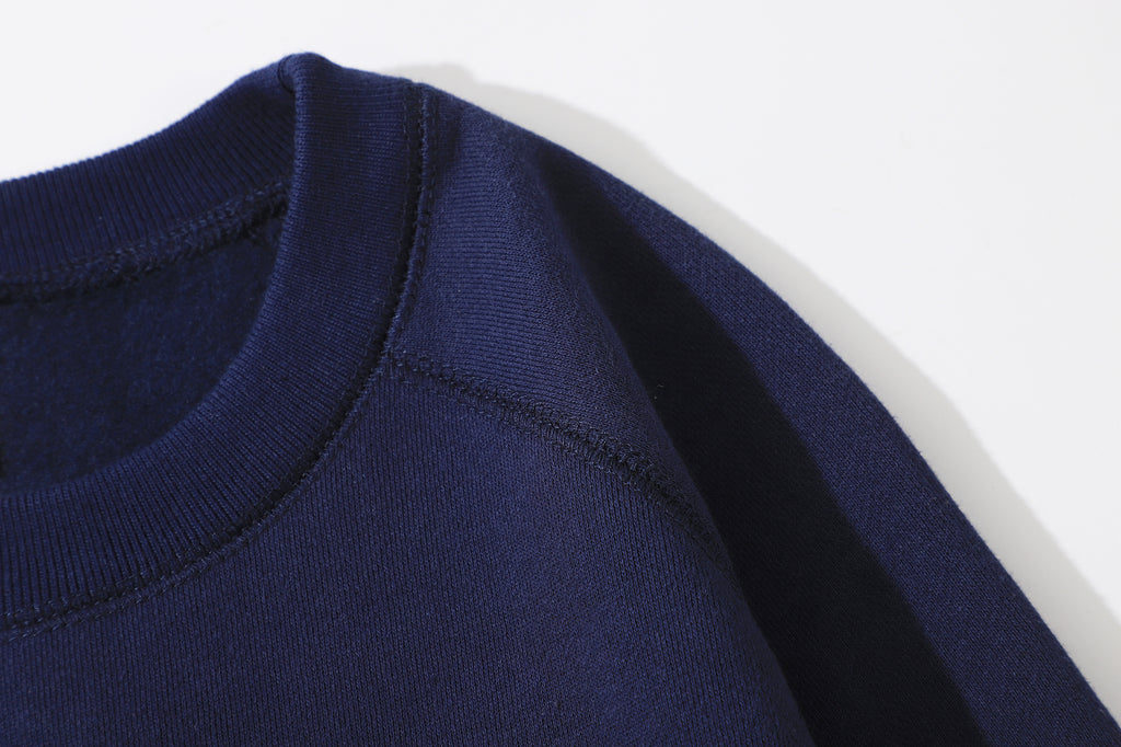 GLUE Flower tie Pullover Navy