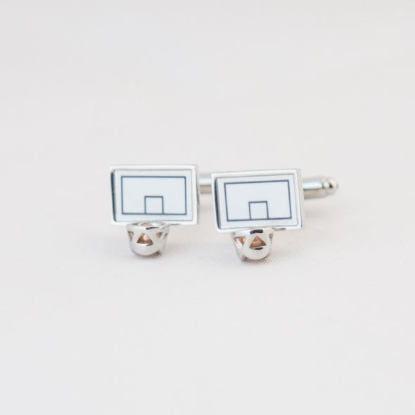 Cufflinks - Basketball and basketball board