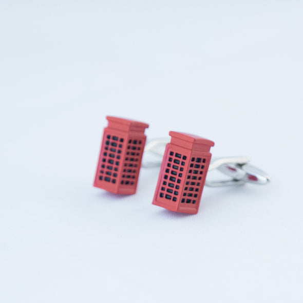ENGLISH TELEPHONEBOOTH CUFFLINKS