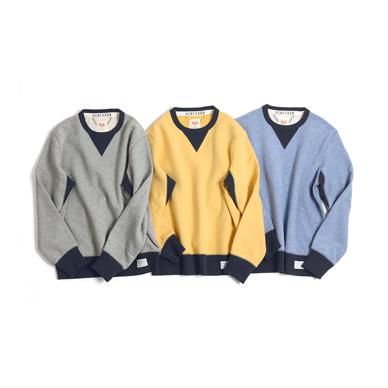Vintage and Republic Suede Finish 2-tone Pullover (Blue)