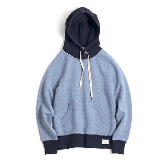 Vintage and republic-Super Soft 2 Tone hoodies - Blue