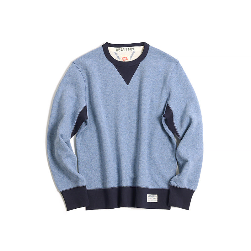 Vintage and republic-Suede Finish 2-tone Pullover