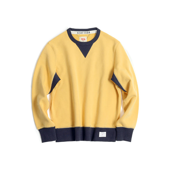Vintage and Republic Suede Finish 2-tone Pullover (Yellow)