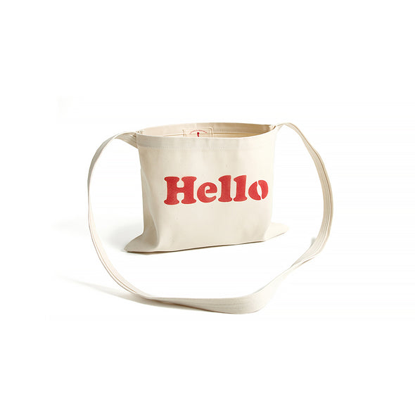 "Vintage and Republic ""Hello"" tote bag"