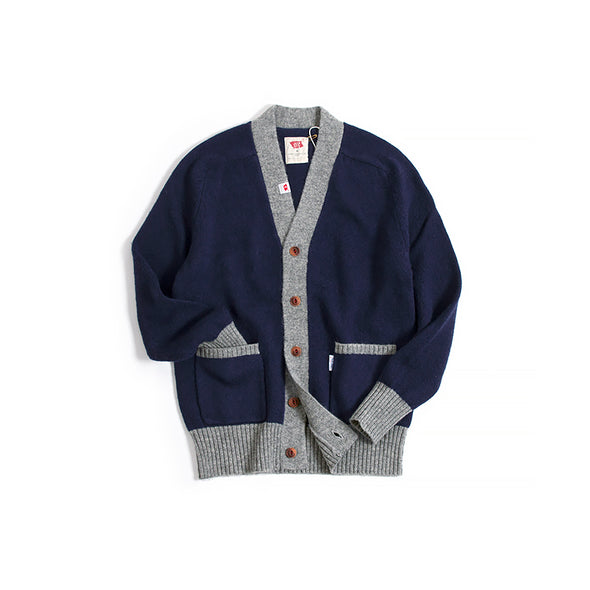 Vintage and Republic Color block Wool Cardigan