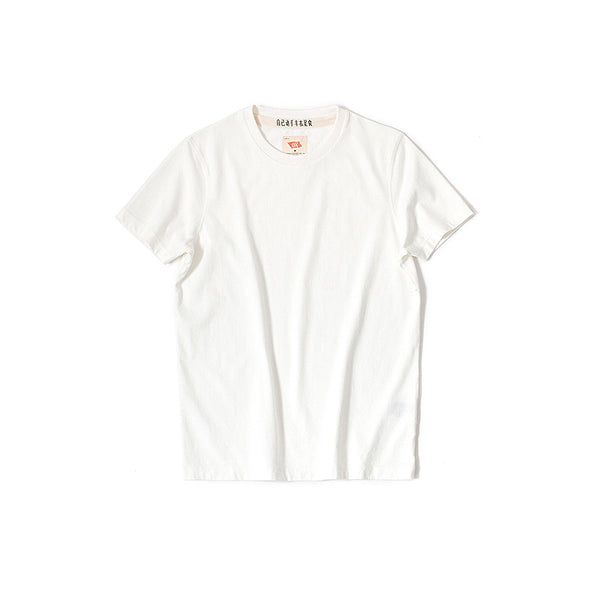 Vintage and Republic T-shirt - Plain short sleeves cotton - White