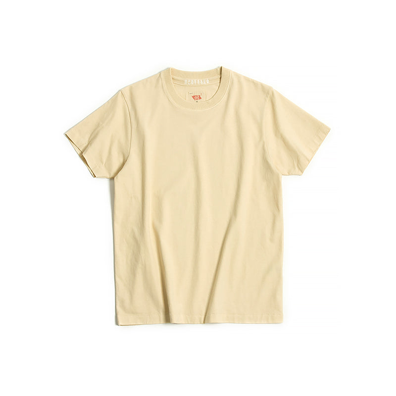 Vintage and Republic T-shirt - Garment Dye Plain Tee (Natural Yellow)