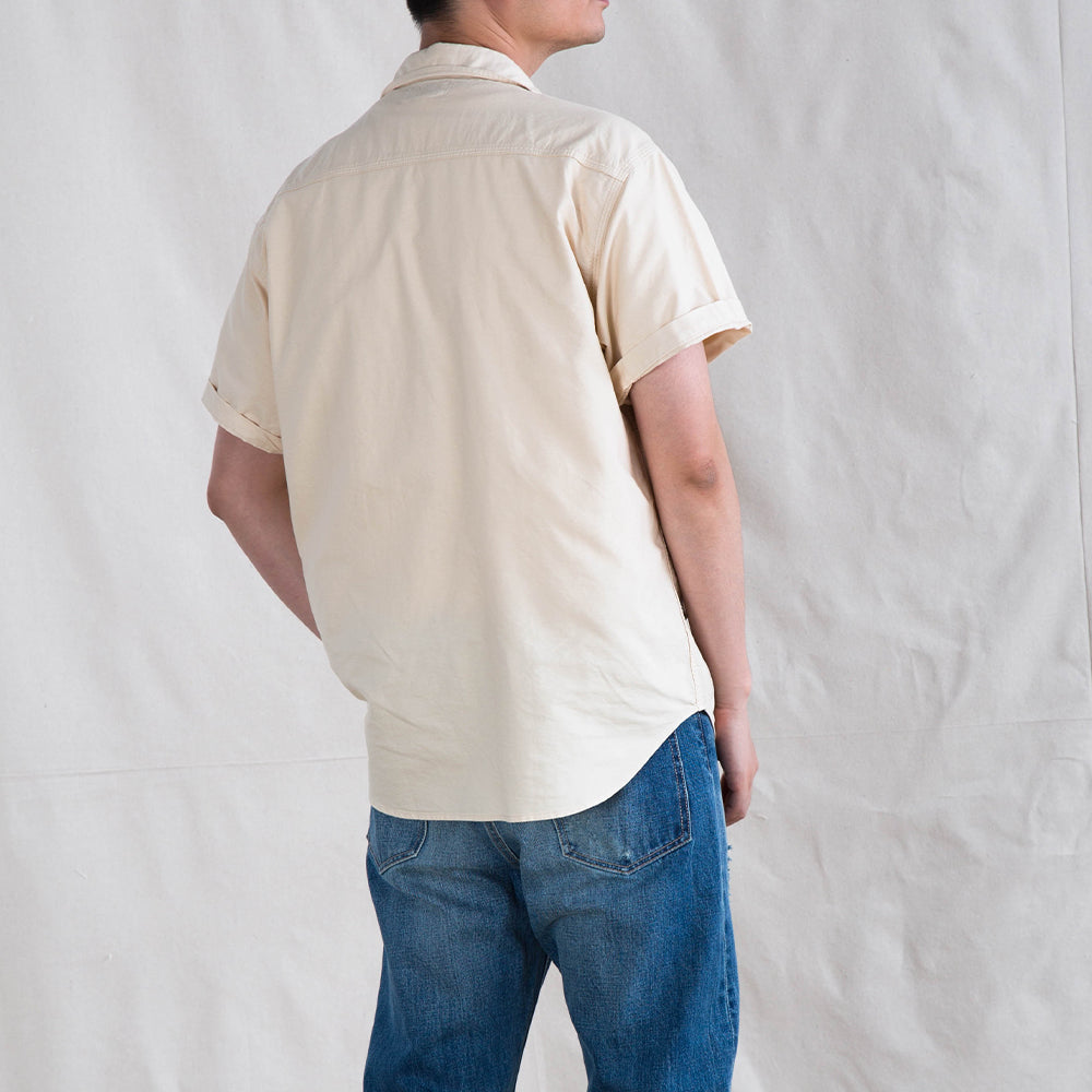 Natural Herbal Dyed short sleeve Shirt - Light Brown