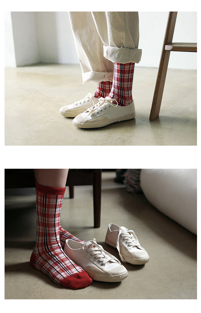 Vintage and republic Vintage Checked Socks