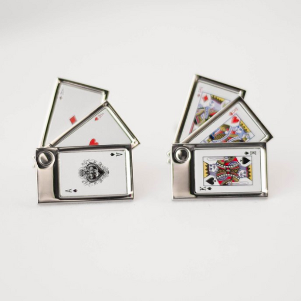 Designer cufflinks- poker