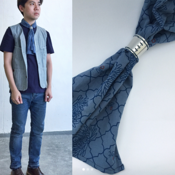 GLUE Workwear Scarf with Hand-made aluminum hook