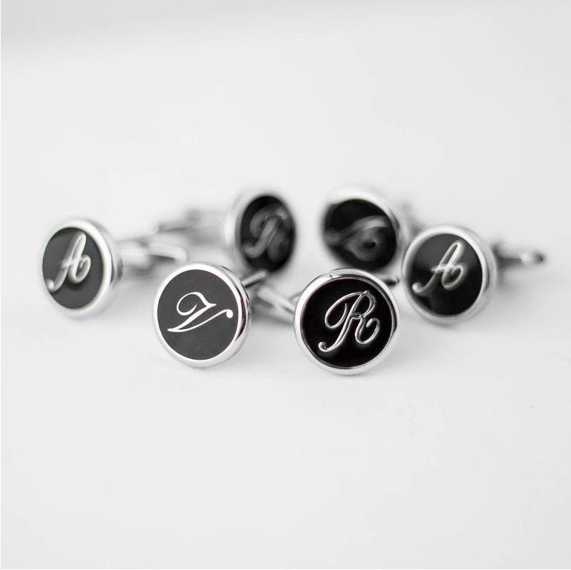 Initial English Letter Cufflink