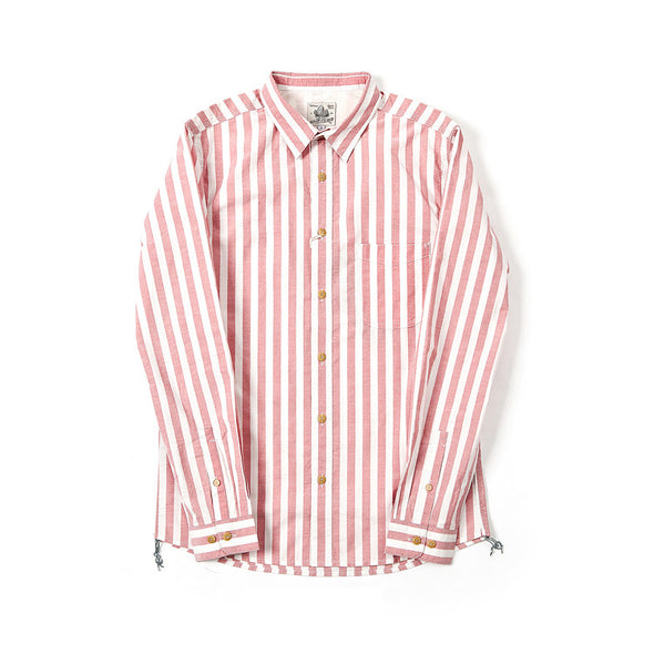 Made By Scrub - Shirt ( Cotton Vintage Pink Strips)