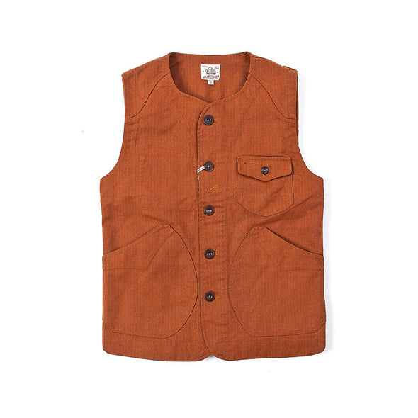 Made By Scrub - Vest Jacket - Hunting Waistcoat (Vintage Brown)
