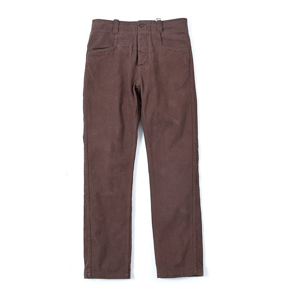 Made By Scrub - Trousers (Brown Twill Fabric)