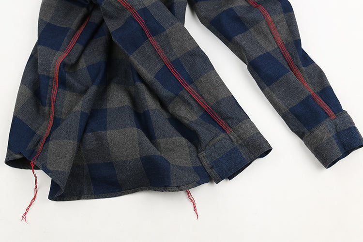 Vintage and Republic INDIGO Flannel Shirts