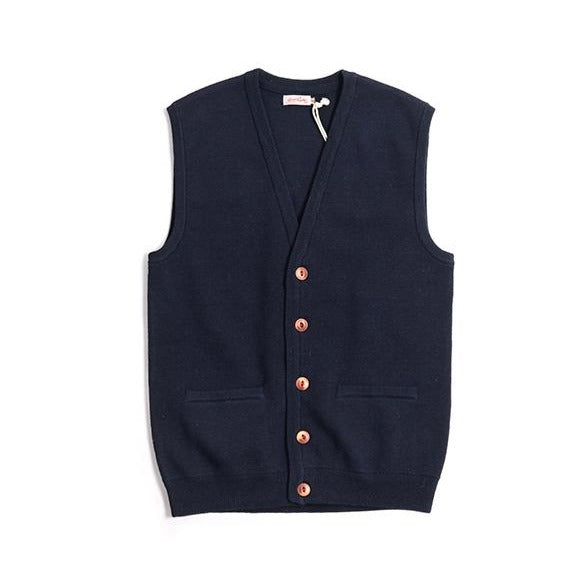 Vintage and republic 100% Wool Cardigan Vest