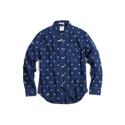 Vintage and Republic- Indigo Dye Shirt