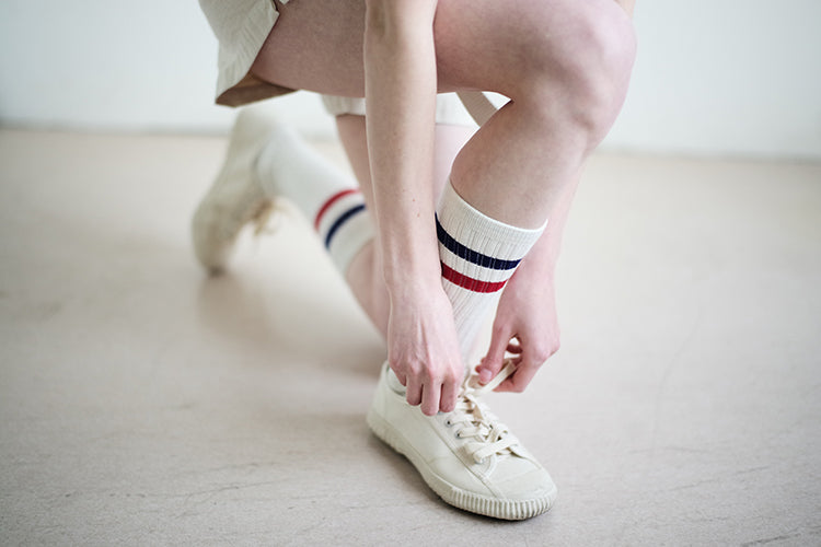 Vintage and republic 70's style sports socks