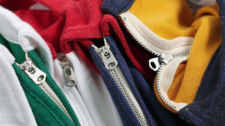 Vintage and Republic 1960S zip knit polo shirts