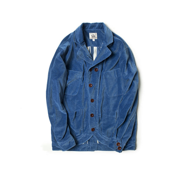 Made by Scrub - Bleach Indigo velvet Sack Jacket