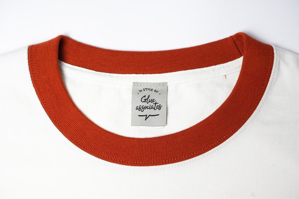 GLUE 2 Tone T-shirt with Swallow - Orange Neck
