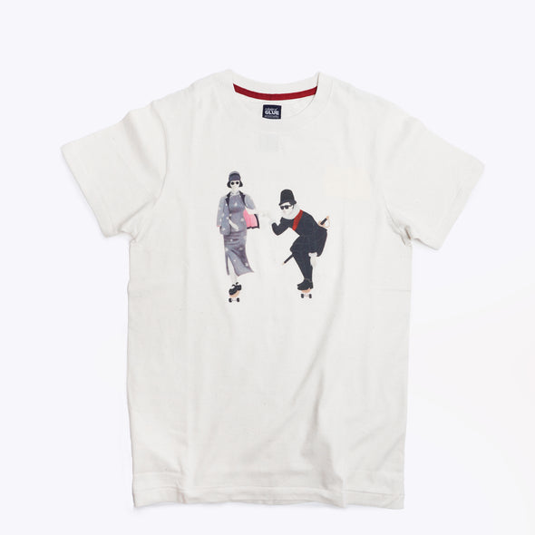 Zishi x GLUE Organic Seamless Printed T-Shirt - Culture Exchange
