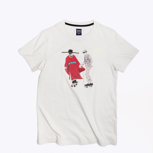 Zishi x GLUE Organic Seamless Printed T-Shirt - Time travelling Red