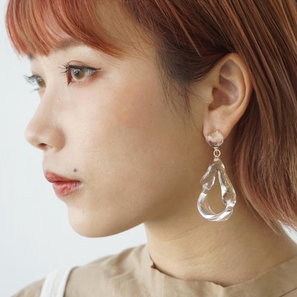 HARIO Handmade Jewelry - 10K Gold Earrings (HAA-AUH-001P)