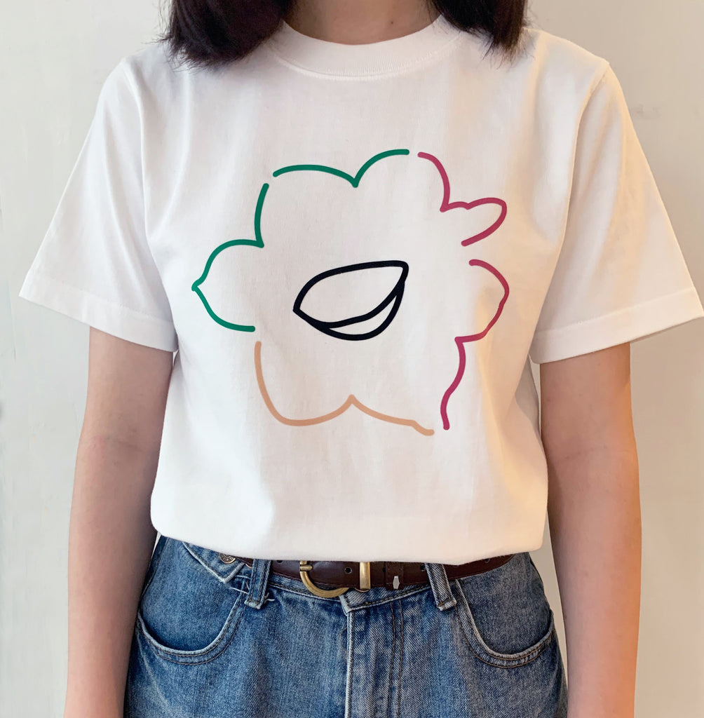 GLUE Handmade Silkscreen Felt Colorful Daffodill T-shirt