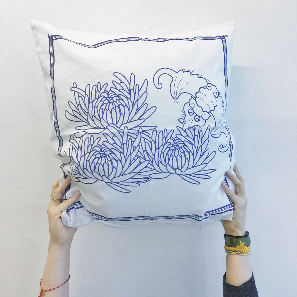 50s Fortune Chrysanthemum Cushion