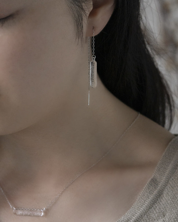 HARIO Handmade Earrings- Long Snowflake Earrings