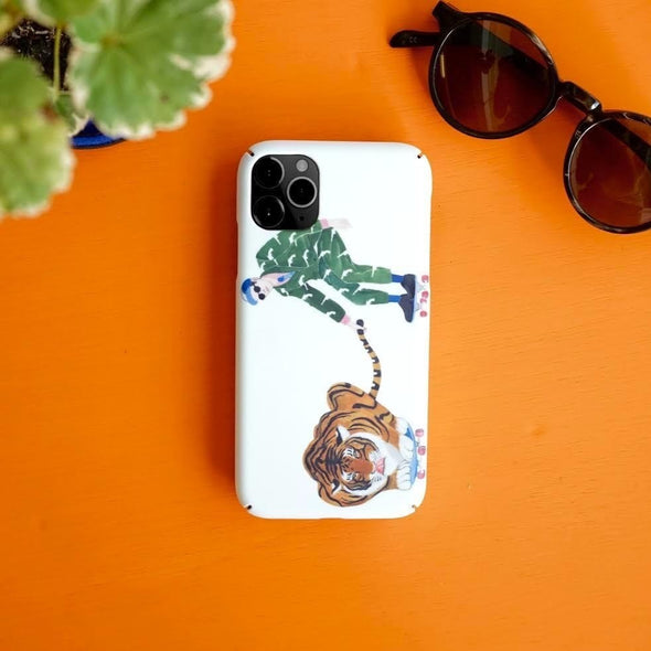 GLUE x Zishi Play With Tiger IPhone case Case