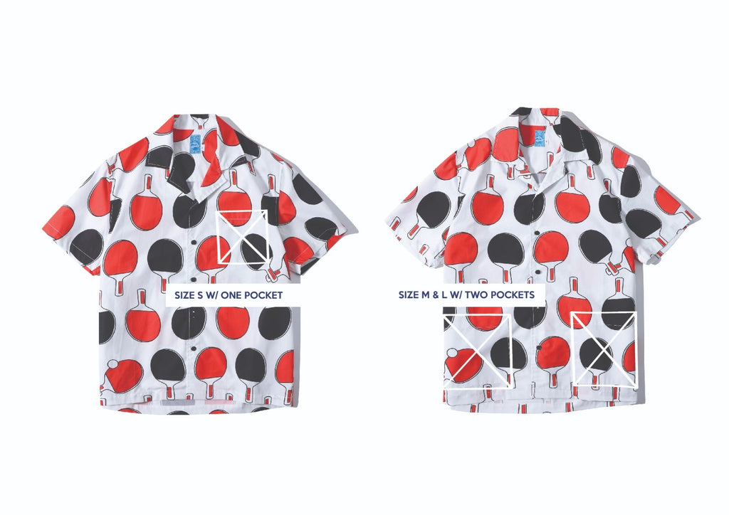 GLUE Retro Sports Poplin Shirt Jacket - Ping Pong