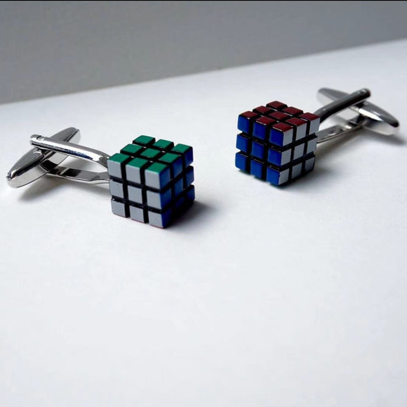 Designer cufflinks - Mini Cube