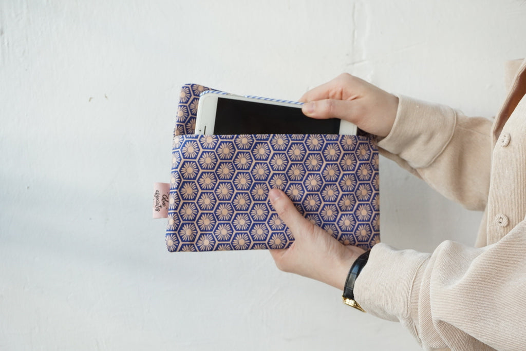 Mask Envelope with Nala Fabric ( Blue / Pink )