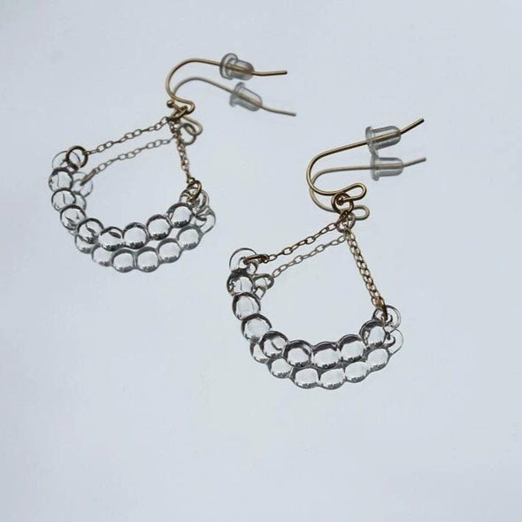 HARIO Handmade Jewelry- Water Drop Earrings/Ear Clips (HAW-R-002)