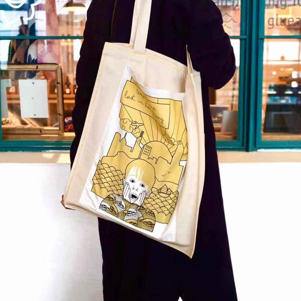 NEW Home Alone tote bag - travel alone Hong Kong - Yellow