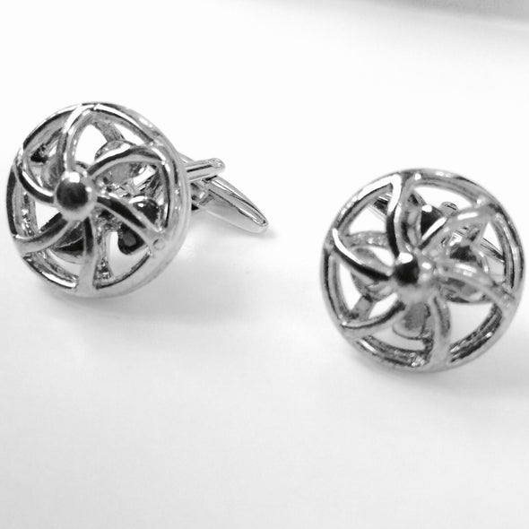 Designer cufflinks - Spinning Fan Cufflinks