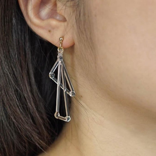 HARIO Handmade Jewelry- 2 Triangles Earrings