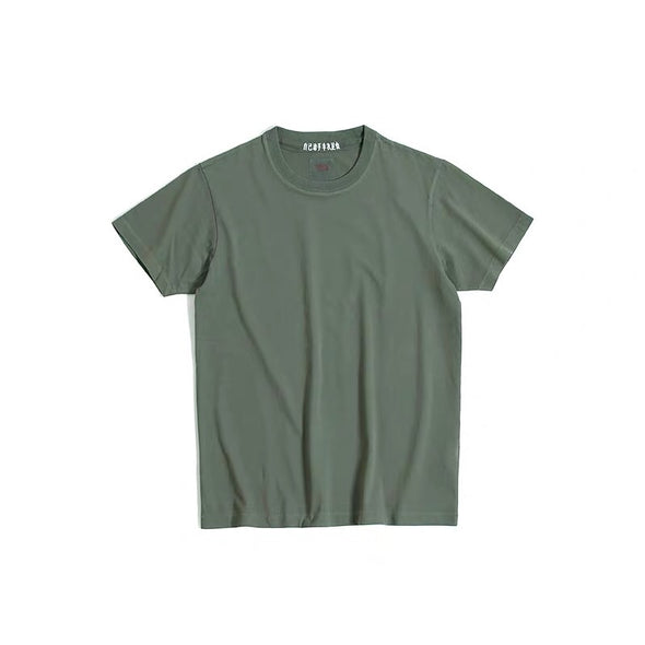 Vintage and Republic T-shirt - Garment Dye Plain Tee (Natural green)