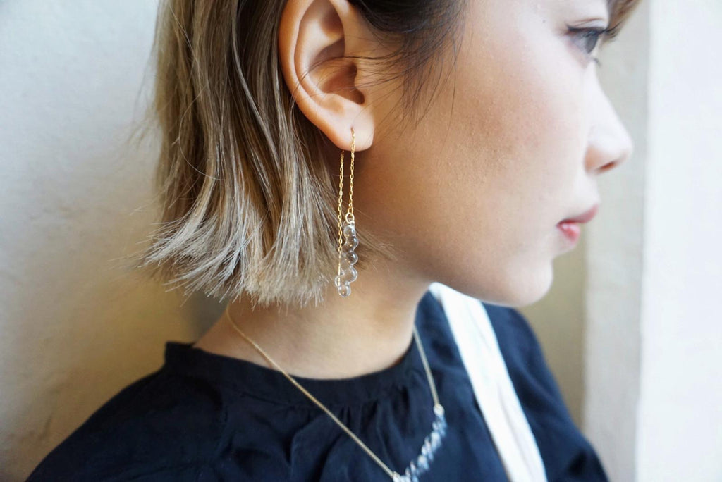 HARIO Handmade Jewelry- Water Drop Earring (HAW-G-002P)