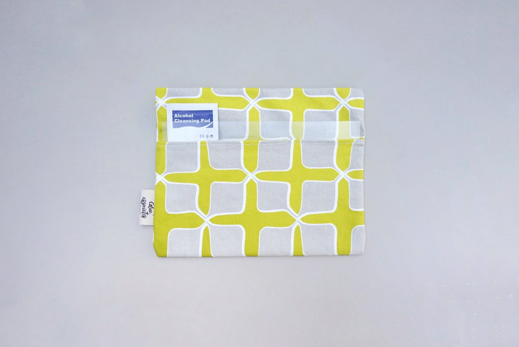 Mask Envelope with Nala Fabric ( Yellow / Grey )