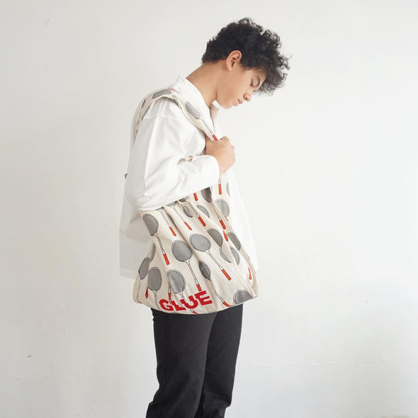 New Canvas Sports Vest Tote with Embroidery - Badminton