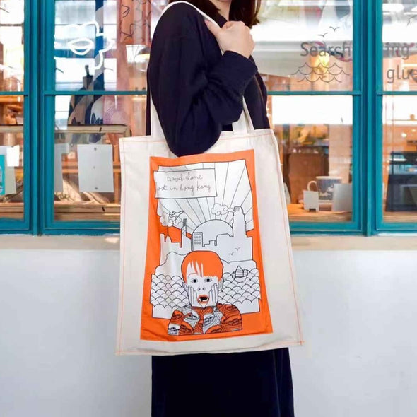 NEW Home Alone tote bag - travel alone Hong Kong - Orange