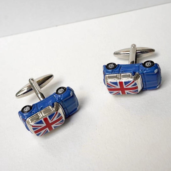 Designer cufflinks - Mini Copper Cufflink - Blue