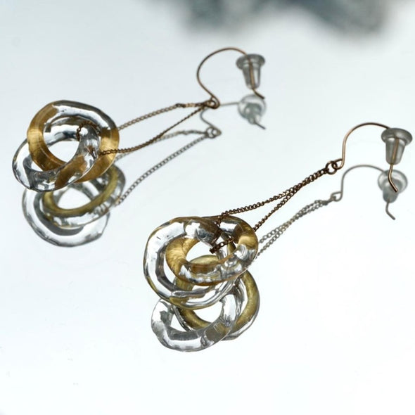 HARIO Handmade Jewelry - 10K Gold Earrings (HAA-ETH-002)